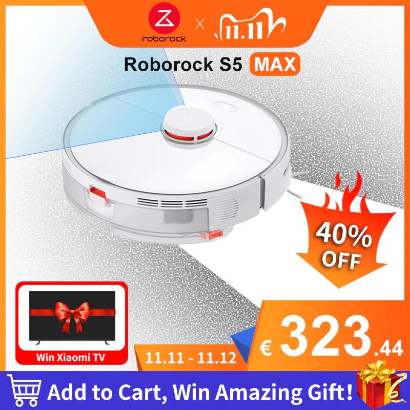 Roborock S5 Max Xiaomi Robot Vacuum Cleaner £270.97 Delivered (EU Plug / Shipping) @ AliExpress Deals / MC-TECH Store