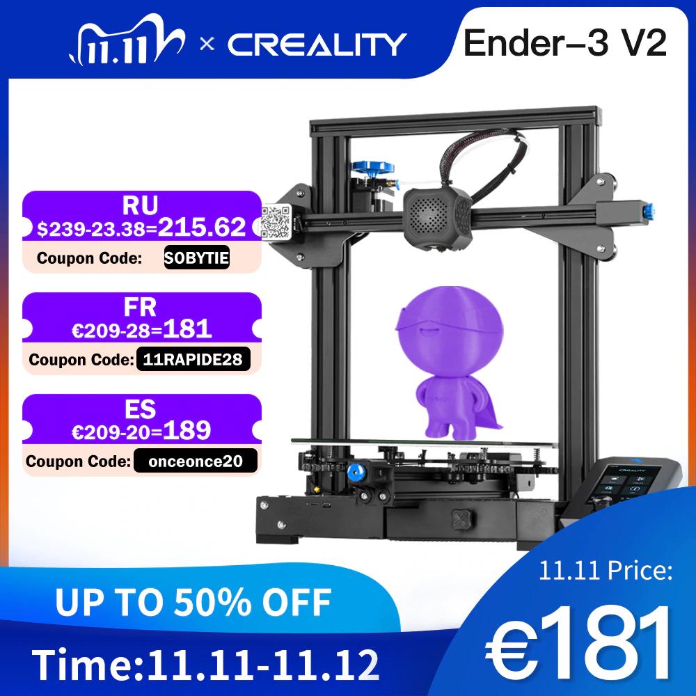 CREALITY Ender-3 V2 3D Printer Kit, £152.15 Delivered via EU @ AliExpress CREALITY 3D Global Store