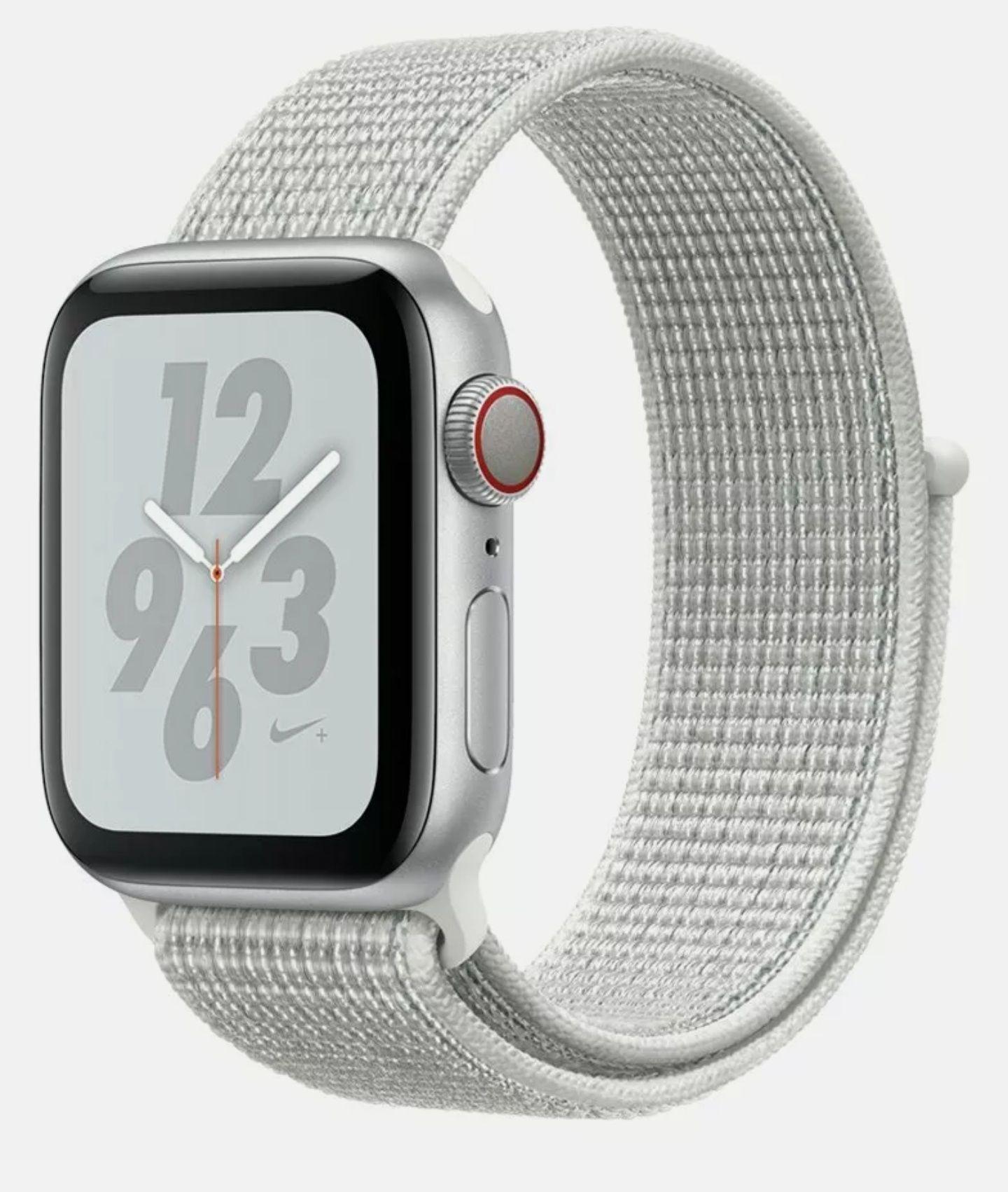 Apple Watch S4 Nike 40mm WiFi & Cellular Smart Watch - Silver & White Band - £231.99 @ Argos / Ebay
