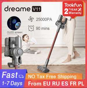 Xiaomi Dreame V11 Vacuum Cleaner - delivered from EU £185.17 with code @ AliExpress / TookFun Appliance Store