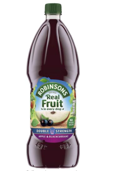 Robinsons apple & black current/orange 1.75l £1.75 Amazon prime / £6.24 non prime