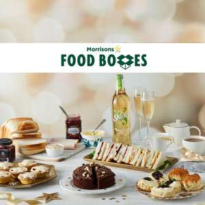 Festive afternoon Tea box £15 / Best Medium Christmas Hamper £20 / Festive Feast with Best Trimmings £45 delivered with code @ Morrisons
