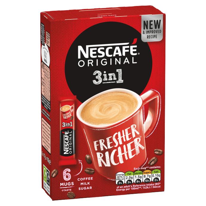 Nescafe Original 3 in 1. 6 Sachets £0.49p @ Farmfoods Halifax