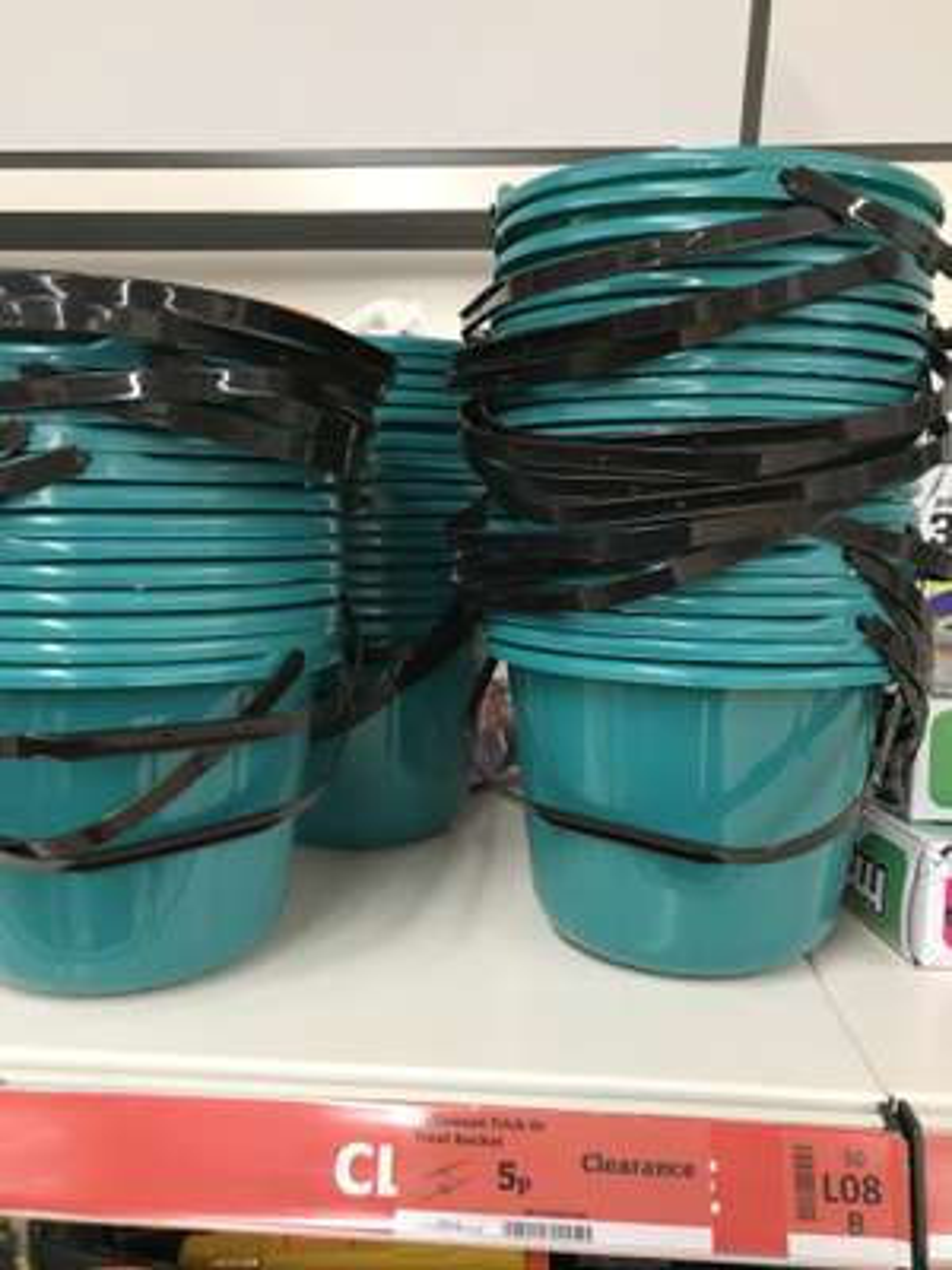 Halloween bucket 5p Turquoise or Orange (Merton Store) @ Sainsbury's