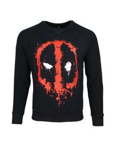 Official Deadpool Dripping Face Sweater Now £9.99 Free delivery @ Geekstore