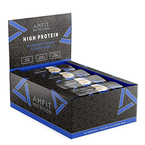 Amazon Brand - Amfit Nutrition Low Sugar Protein Bar (20gr protein - 2.8gr sugar)- Blueberry Yogurt - 12-pack £10.23 + £4.49 NP @ Amazon