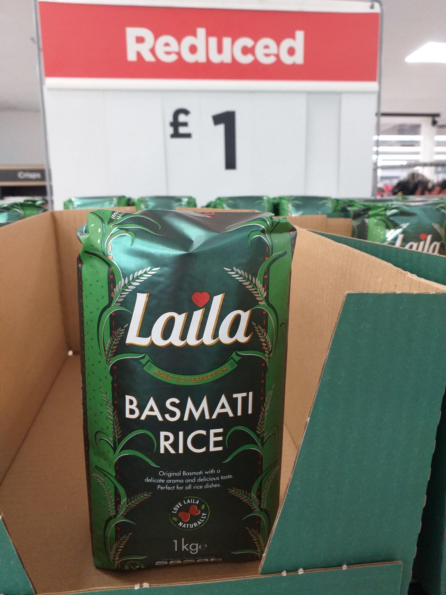 Laila original basmati rice 1kg £1 instore @ Asda (Preston)