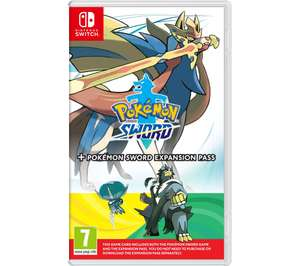 NINTENDO SWITCH Pokemon Sword with expansion pass content £59.99 with Currys code