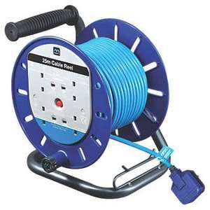Masterplug 45m/25m 13A 4-gang cable reel £29.99 @ screwfix - free click & collect