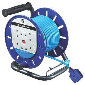 Masterplug Ldct2513bq/4-Xd 13a 4-Gang 25m Cable Reel 240vs C&C £19.99 @ SCREWFIX