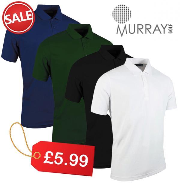 New Murray Golf Tour Ace Dri Tech Polo Shirt £5 Just Golf Online