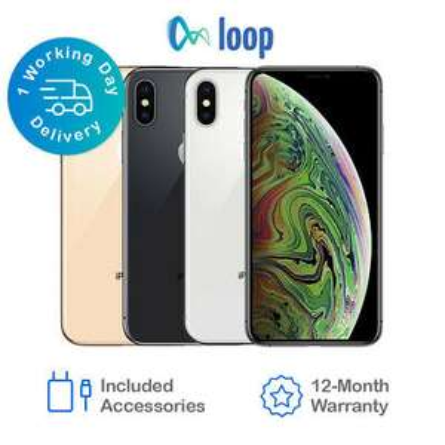 Apple iPhone XS MAX 256GB Space Grey Refurbished Good £405 with code @ Loop_mobile eBay