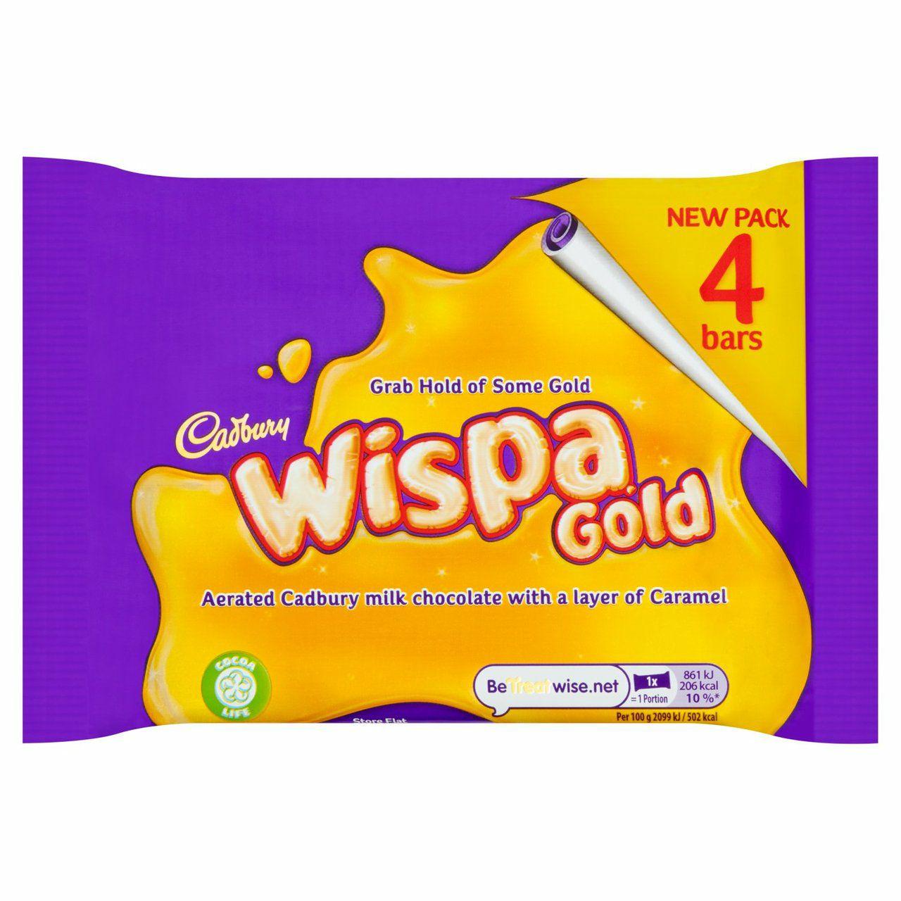 Cadbury Wispa Gold Chocolate Bars 4 Pack 164g £1 @ Asda