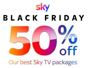 Sky TV - 50% Black Friday deal - From £27.50 pm (Sky TV + Netflix) - 18 months contract + £40 installation (£535 Total) @ Sky