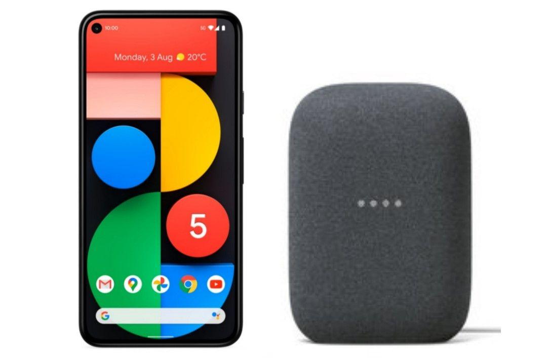 Google Pixel 5 128GB 5G Unlocked Smartphone + Free Nest Audio - £549 + £10 Top Up @ Three