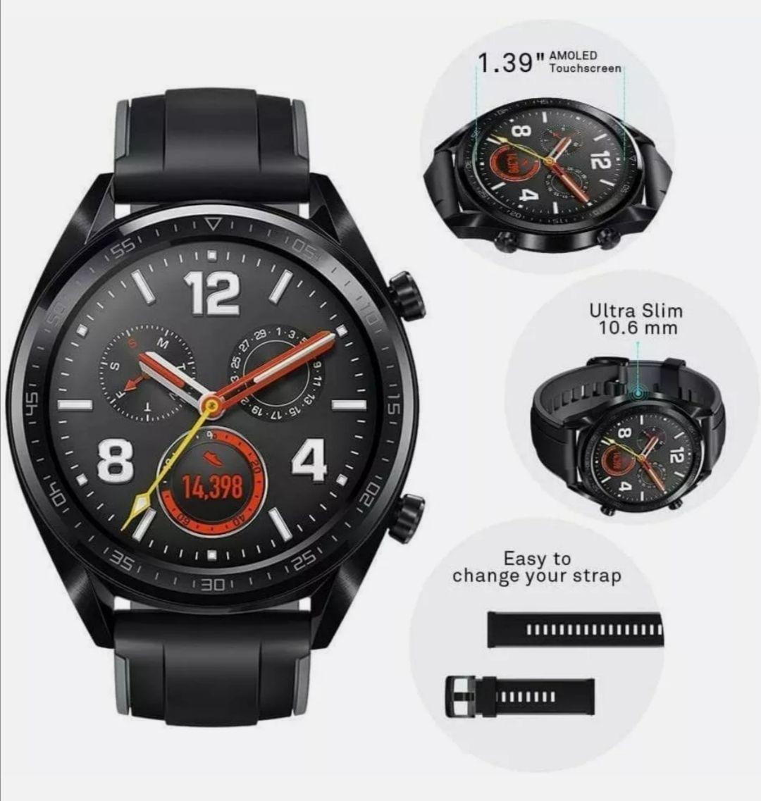 Brand New Huawei Watch GT - FTN-B19 - Black Stainless Steel - Smartwatch - 46mm (14 - 21 Day Battery) - £71.99 @ Mobile Deals UK / Ebay