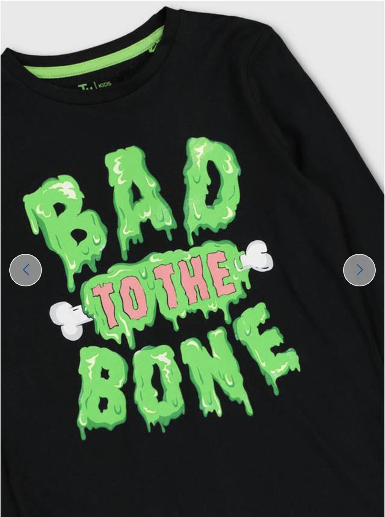 Tu clothing Halloween Black Slogan Top £2 - £2.75 @ Argos