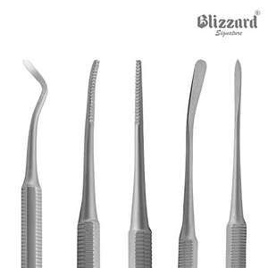Ingrown Toenail File Set by Blizzard – 3 Piece Double-Ended Tool Kit - £7.77 (+£4.49 NP) @ Sold by Blizzard Instruments and FBA