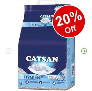Catsan Cat Litter 18l £7.99 (min spend £10, £3.99 delivery or free delivery £35+) @ Zooplus