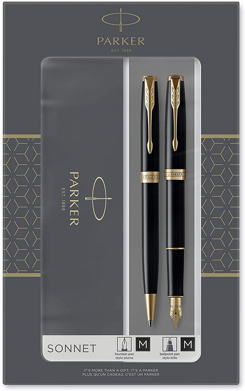 Parker Sonnet Duo Gift Set with Ballpoint Pen & Fountain Pen (18K Gold Nib) - £53.89 @ Amazon