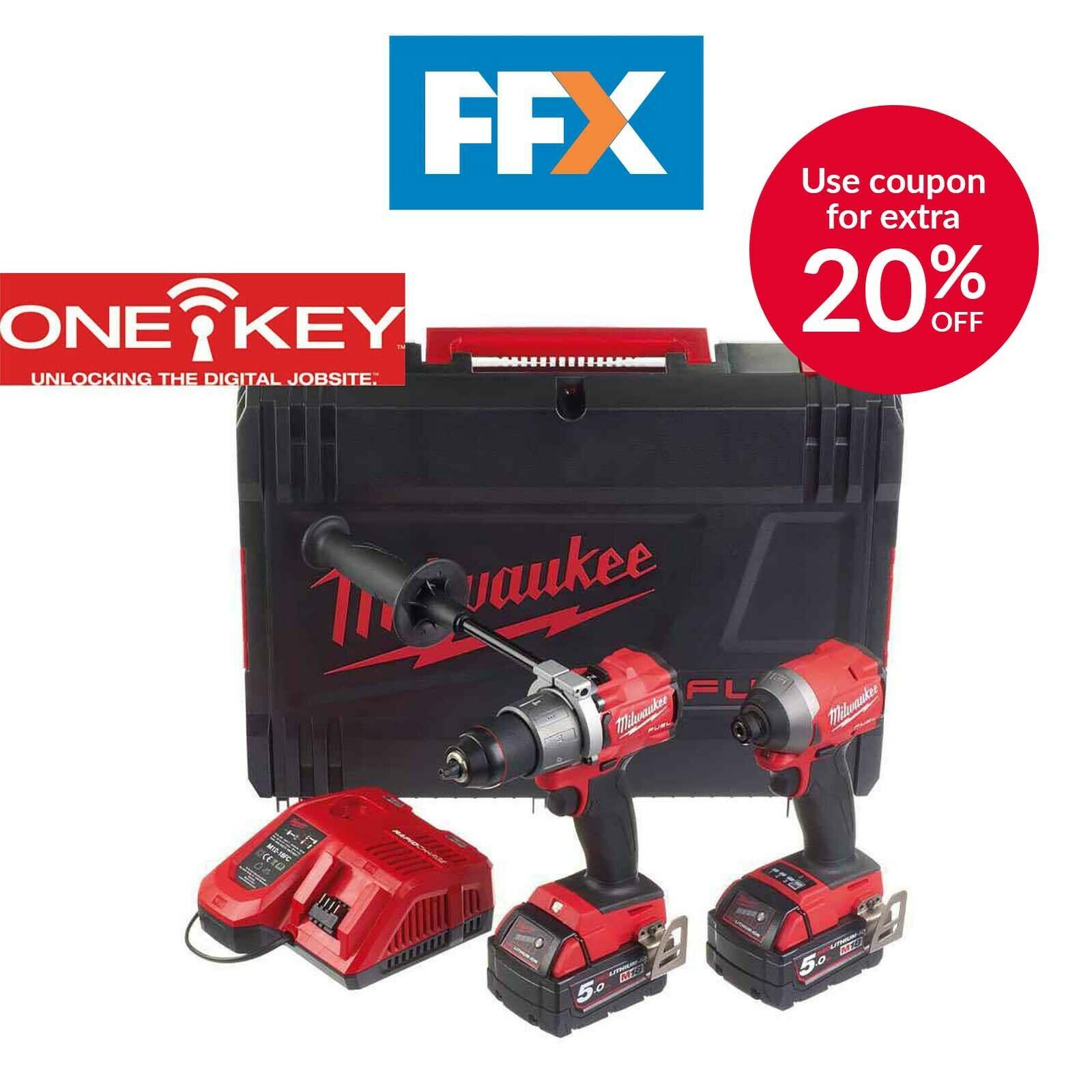 Milwaukee M18ONEPP2A2-502X 18V 2 x 5Ah Li-ion FUEL ONE-KEY Twin Pack 40585462247 - £340 delivered using code @ FFX / eBay