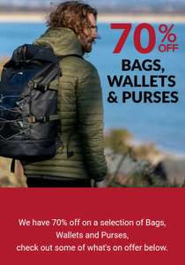 70% off selected Bags, Backpacks, Wallets & Purses Free delivery @ Animal