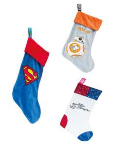 Official DC Superman, Star Wars BB-8 and Suicide Squad Harley Quinn Christmas Stockings £4.99 with free Delivery From GeekStore