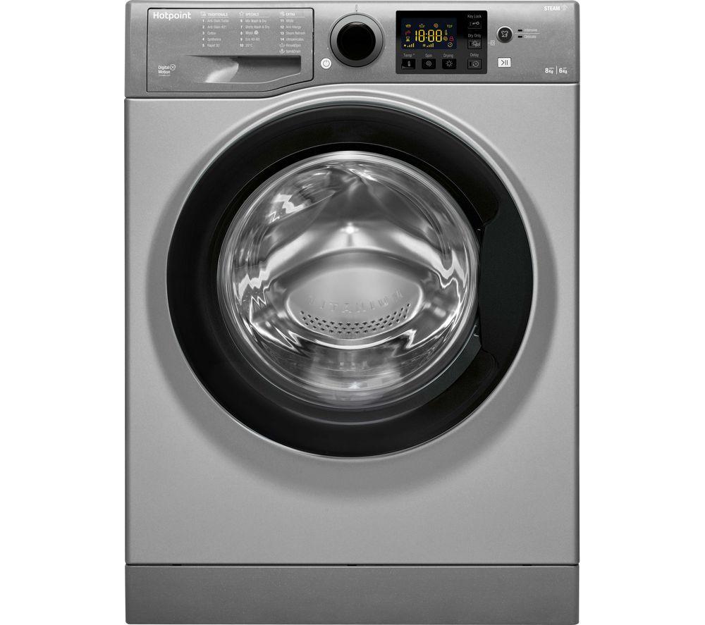 HOTPOINT RDG 8643 GK UK N 8kg(wash)/6KG (dry) Washer Dryer - GRAPHITE £341.99 @ Currys
