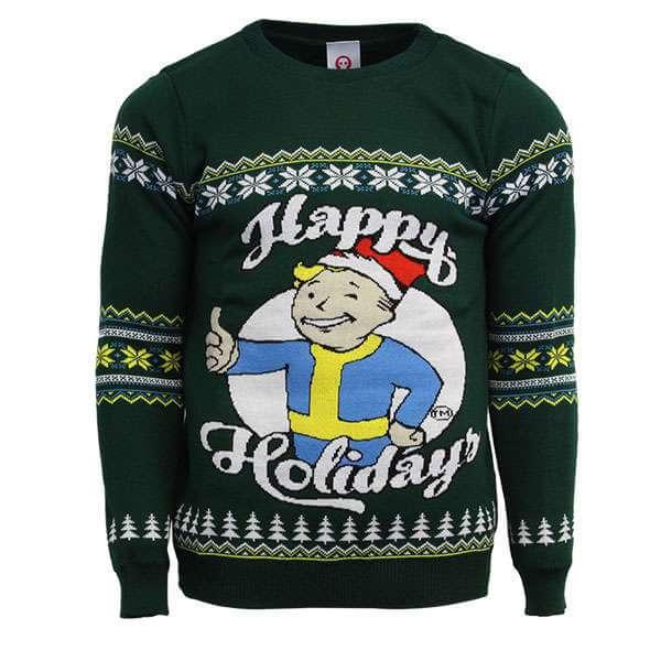 Fallout Happy Holidays Christmas Jumper £5 + £2.99 P&P @ MyGeekBox