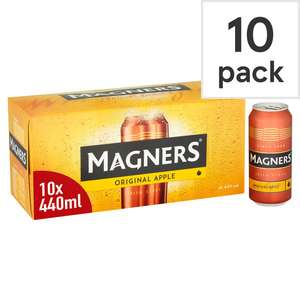 Magners Apple Cider 10X440ml Can for £5 (Clubcard) @ Tesco