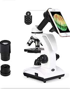TELMU Microscope 40X-1000X Compound Monocular Microscopes with Handle £50.56 @ Sold by Evan Family and Fulfilled by Amazon.