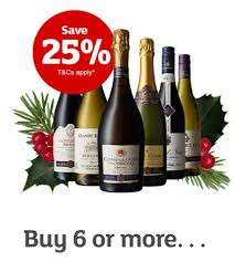 (Online & Instore) 25% off 6 bottles of Wine, Champagne and Prosecco between the 23rd November - 13th December @ Sainsbury's