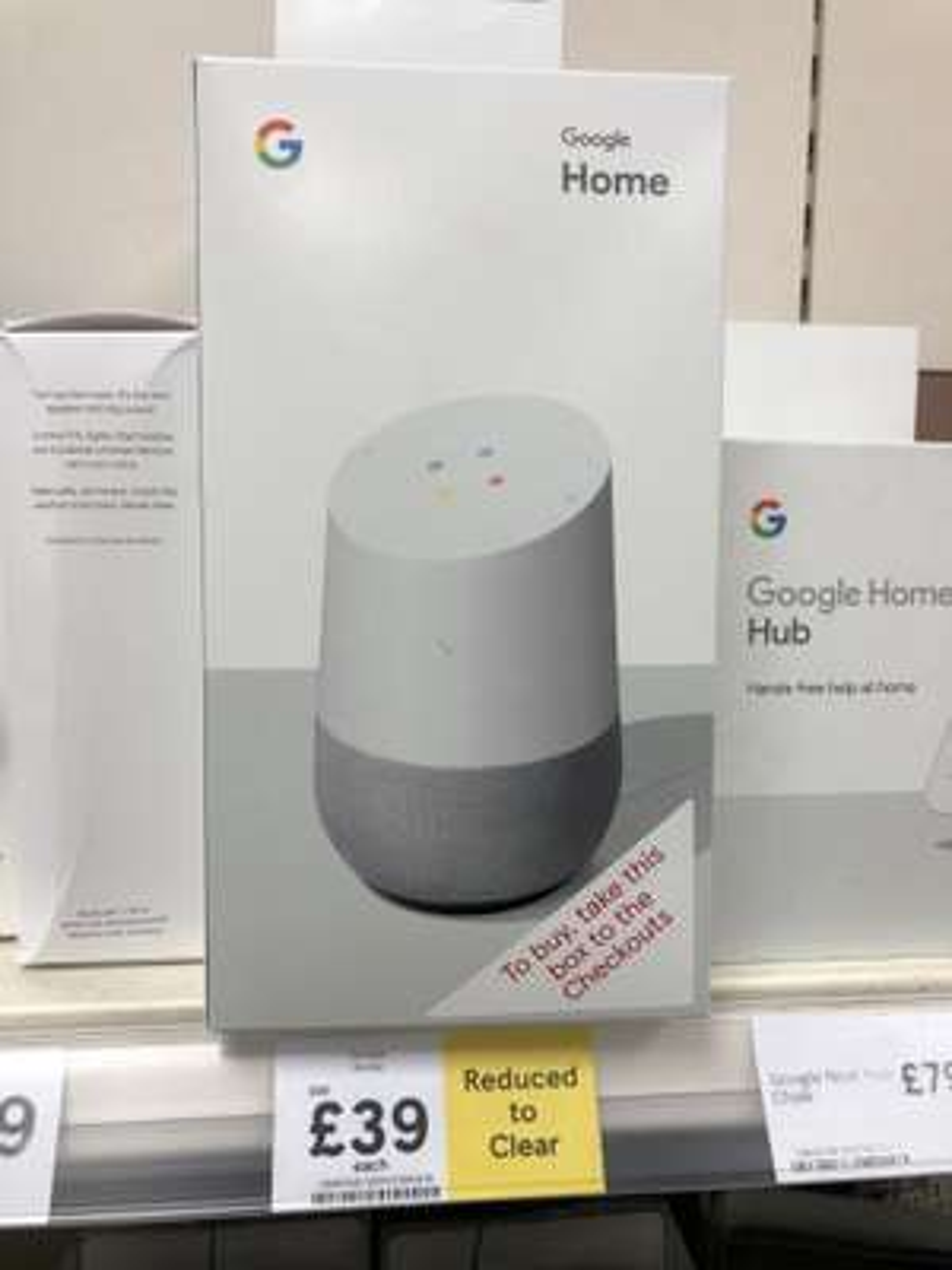Google Home in Tesco Extra Colchester - £39