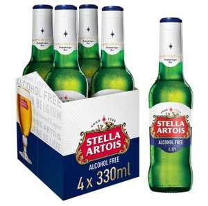 Stella Artois alcohol free 4x 330ml instore at Home Bargains and Quality Save for 79p