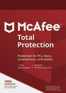 McAfee Total Protection 10 Devices 1 Year Multidevice McAfee Key £10.49 NewTecno / Eneba