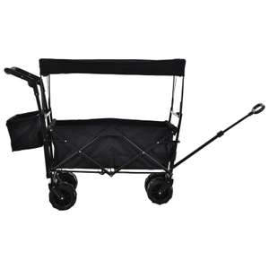 DURHAND Outdoor Push/Pull cargo wagon in black for £51.99 delivered using code @ eBay / Outsunny
