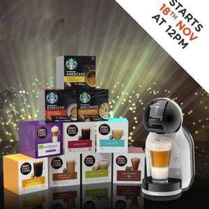 Nescafe Dolce Gusto Mini Me Starter Pack (Machine + 10 pod boxes) £49.99 From 18th @ Nescafe Dolce Gusto