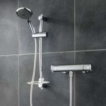 Eleda Bar Mixer Thermostatic Shower - Chrome- £49.99 Delivered @ Triton
