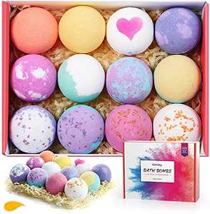 Homasy Bath Bombs, 12 Packs Bath Bomb Gift Set £11.99 + £4.49 Sold by Home Mall-EU and Fulfilled by Amazon.