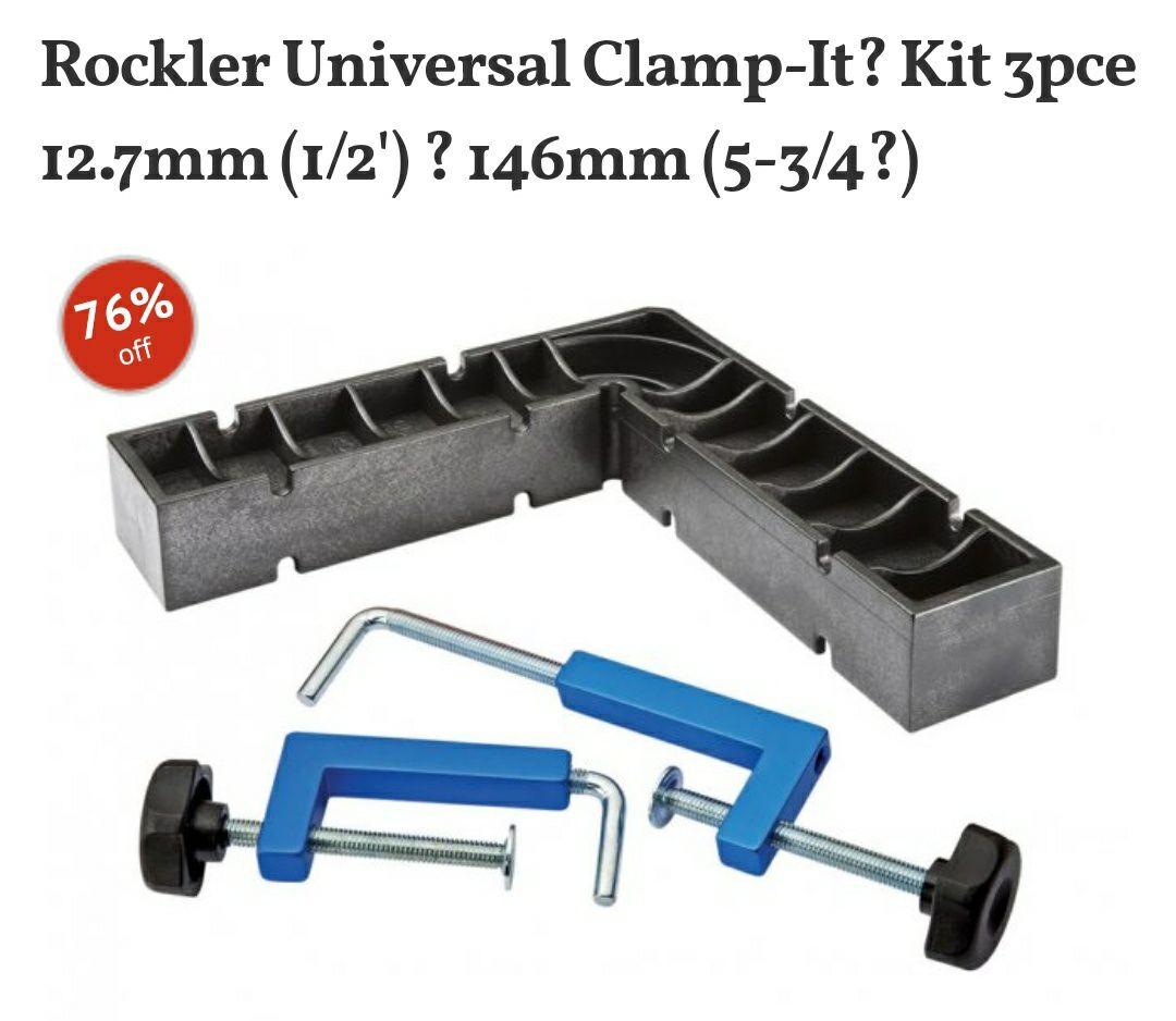 Rockler Universal Clamp-It Kit £13.98 delivered at Yandles