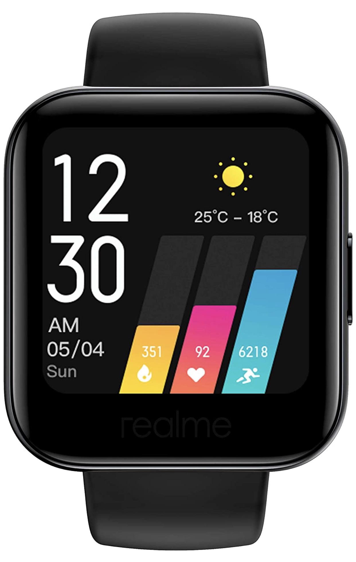 Realme Watch - Smartwatch Black - £38.50 @ Amazon