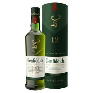 Glenfiddich 12 single malt whisky. Sainsbury's - £27