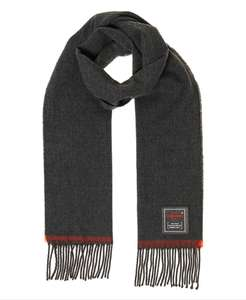 SUPERDRY Solid Capital Tassel Scarf in navy or charcoal for £12.50 delivered @ Superdry