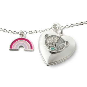 Me to You Silver Plated Rainbow Heart Shaped Locket £6.99 click & collect @ Argos