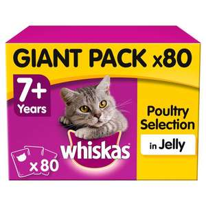 80 x 100g Whiskas Poultry in Jelly £16.99 @ Home Bargains Exmouth