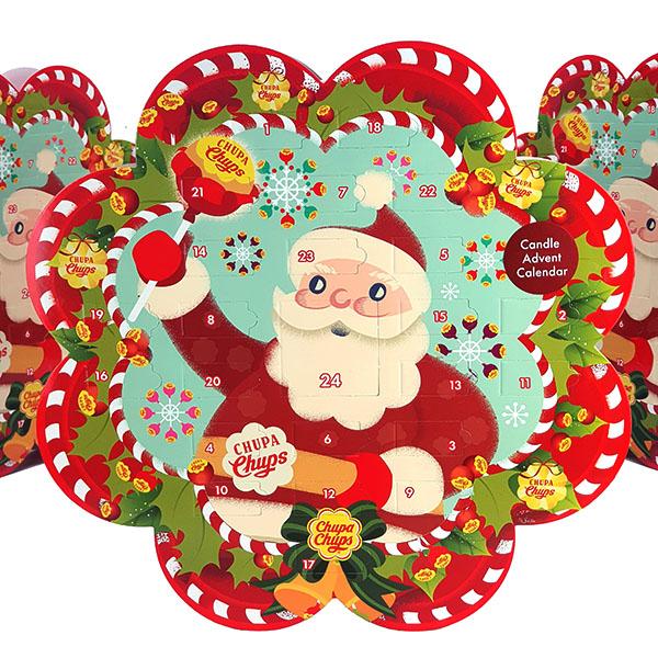 3 X OFFICIAL CHUPA CHUPS CHRISTMAS COUNTDOWN SCENTED TEALIGHTS ADVENT CALENDARS - £10 @ Yankee Bundles