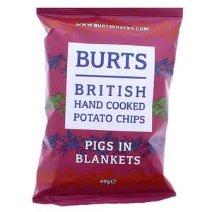 Burt's British Hand Cooked Potato Chips Pigs In Blankets flavour 40g - 4 for £1 or 29p each in-store @ Quality Save, Prestwich