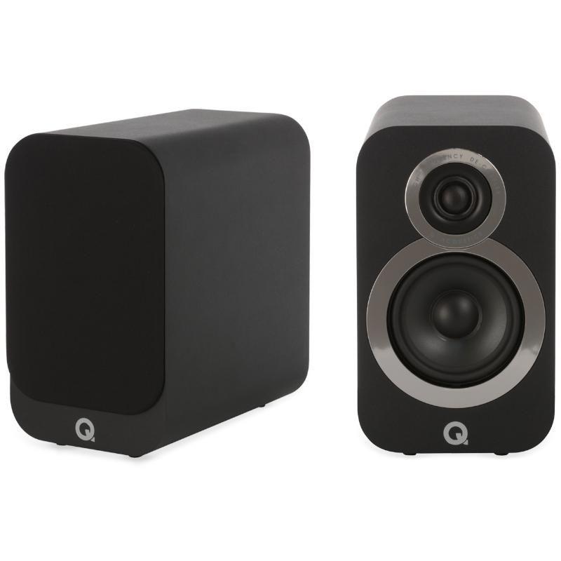 Q Acoustics 3010i Compact Bookshelf Speakers - Carbon Black - £159.20 Delivered @ Hifi Headphones