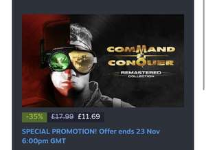 Command & Conquer Remastered Collection (PC) - £11.69 @ Steam