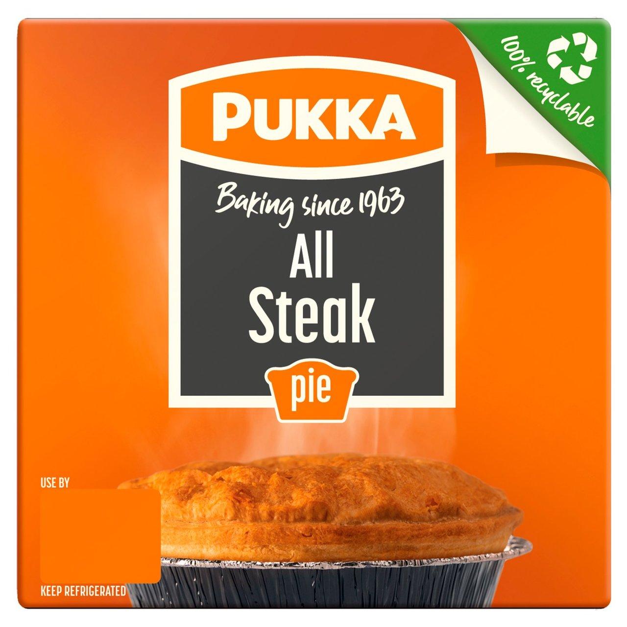 Pukka Pie (All Steak/ Chicken & Mushroom / Steak & Kidney / Steak & Onion/ Vegan Steak & Onion Pie and more) £1 @ Morrison's